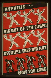 Depression-era U.S. poster advocating early syphilis treatment
