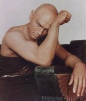 Actor Yul Brynner's trademark was his completely bald head, much of which was shaven.