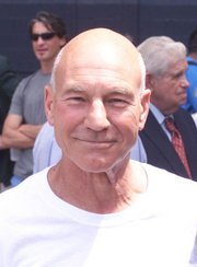Actor Patrick Stewart's bald head is considered part of his distinctive attractiveness.