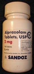 alprazolam 2mg tablet bottle
