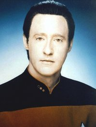 The android Data, portrayed by Brent Spiner, from the TV series Star Trek: The Next Generation
