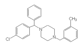 Meclizine's chemical structure