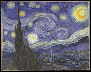 Starry Night painted by Vincent van Gogh in 1889 in the hospital for mentally disturbed people in St. Rémy de Provence. Van Gogh is considered to have been affected by bipolar disorder and this picture has high contrasts analagous to extreme bipolar highs and lows as well as capturing the vibrancy associated with mania.
