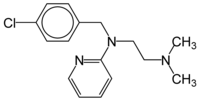 Chemical structure of Chloropyramine