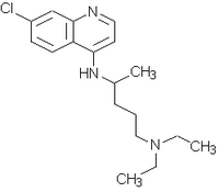 Chloroquine chemical structure