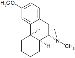 Molecular structure of dextromethorphan