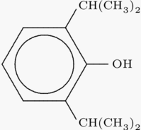 Propofol chemical structure