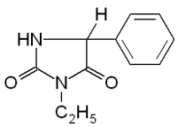 Ethotoin's chemical structure