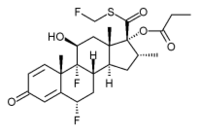 Fluticasone chemical structure
