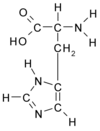 Chemical structure of Histidine