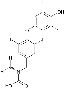 Levothyroxine chemical structure
