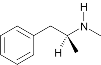 Methamphetamine's chemical structure