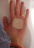 Contraceptive patch.  The patch should not be applied to the palm.