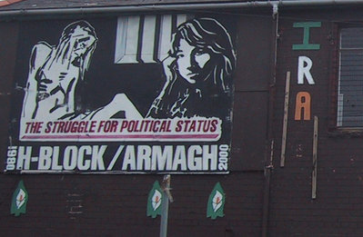 An IRA mural in Belfast depicting the hunger strikes of 1981.
