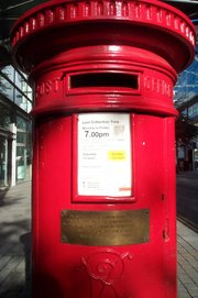 This postbox in Manchester survived the IRA bombing in 1996.