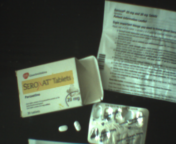 two paroxetine tablets and their packaging