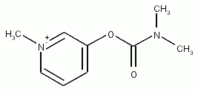 Chemical structure of pyridostigmine.