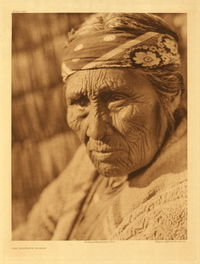 Old Klamath woman by Edward S. Curtis, 1924