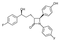 Ezetimibe chemical structure