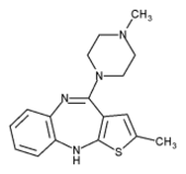 Olanzapine chemical structure
